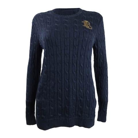 Lauren by Ralph Lauren Women's Crest Cable Sweater - M