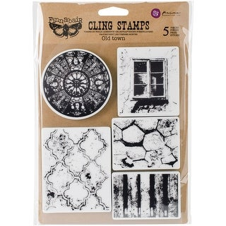 "Finnabair Cling Stamps 6""X7.5""-Old Town"