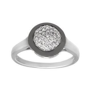 1/4 ct Diamond Circle Ring in Sterling Silver