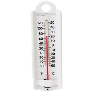 Taylor 5135N Indoor And Outdoor Thermometer, Aluminum - White