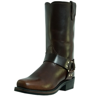 Dingo Motorcycle Boots Mens Leather Jay Harness Mahogany DI19056