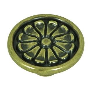 Stone Mill Hardware - Antique Brass Aztek Cabinet Knobs (Pack of 10)