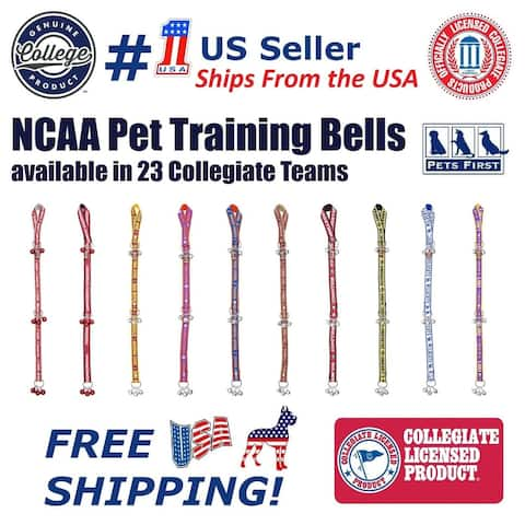NCAA Door Training Bells for Pets / Dogs / Cats , 40+ College Licensed Home Entry Décor