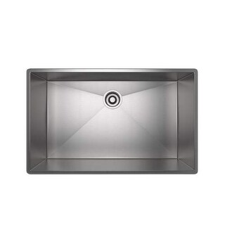 "Rohl RSS3318 34-1/2"" Single Basin Undermount Stainless Steel Kitchen Sink"