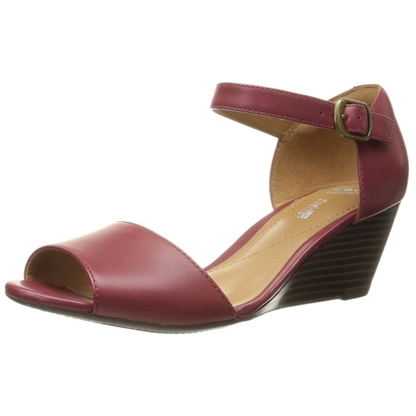 CLARKS Womens Brielle Drive Open Toe Casual Ankle Strap Sandals