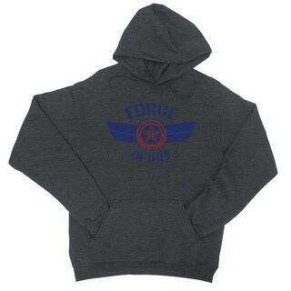 Force Of July Unisex Hoodie Unisex Charcoal Grey Pullover Hoodie (More options available)