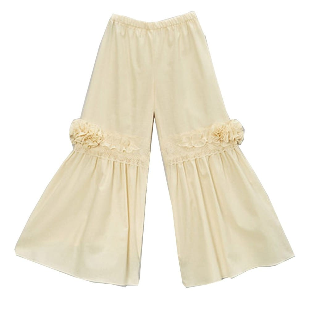 WHITE FAWN Multi Floral Girls Flare Pants