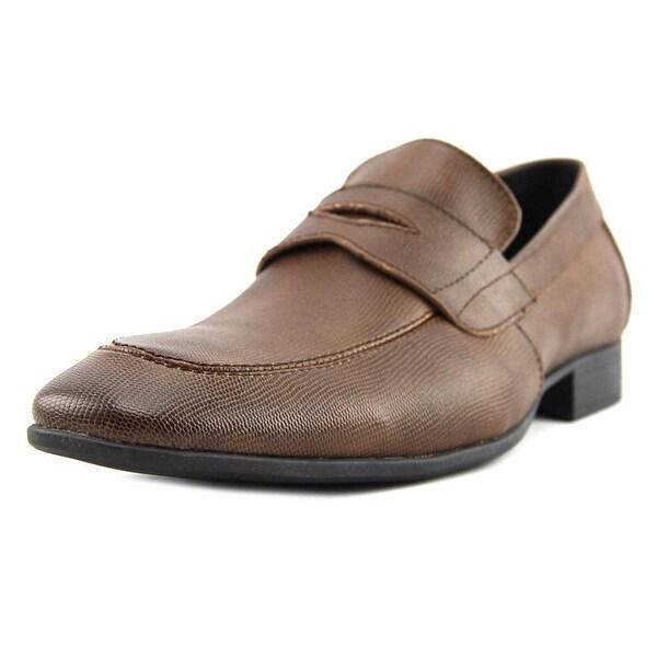 Robert Wayne Reggie Pebbled Tobacco Loafers