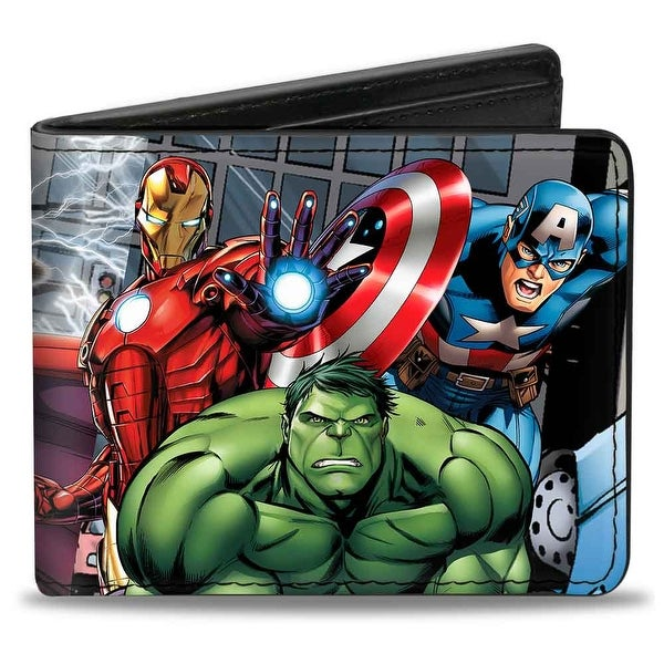 Marvel Avengers Marvel Avengers Superhero Action Poses Bi Fold Wallet - One Size Fits most