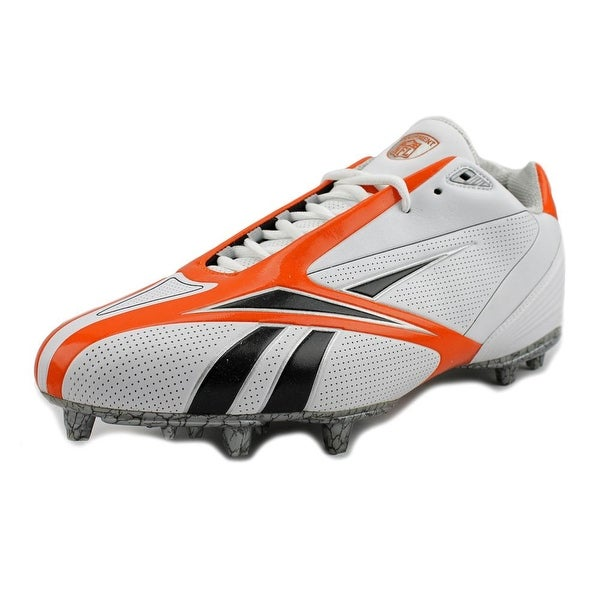 Reebok Pro Burner Spd III Low M3 Men Round Toe Synthetic White Cleats