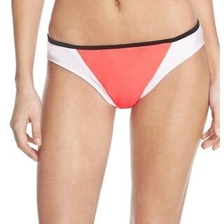 ZELLA NEW Coral Samba Pink Womens Size XL Colorblocked Bikini Bottom