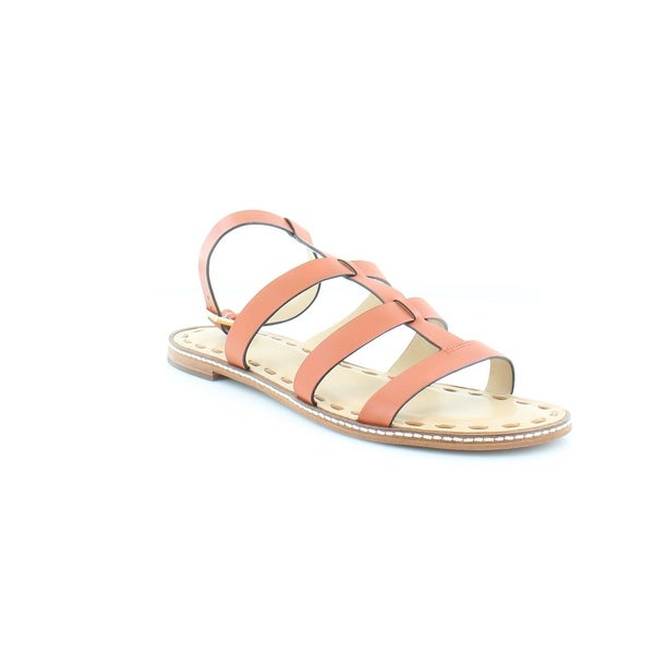 Michael Kors Gladiator Fallon Sandal Women's Sandals & Flip Flops Orange/Acorn - 11