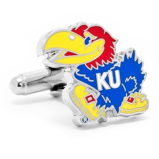 Silver Plated Kansas University Jayhawks Cufflinks