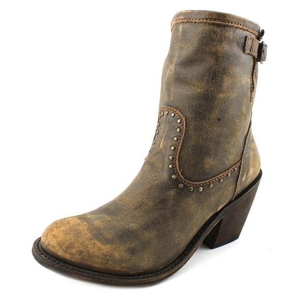 Independent Boot Company Alexis Women Round Toe Leather Brown Western Boot