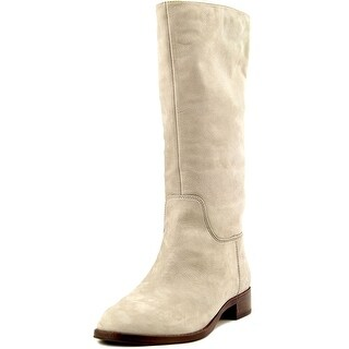 Via Spiga Jules Boot Women Round Toe Leather Gray Mid Calf Boot