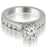 2.00 cttw. 14K White Gold Cathedral Style Round Cut Diamond Engagement Ring