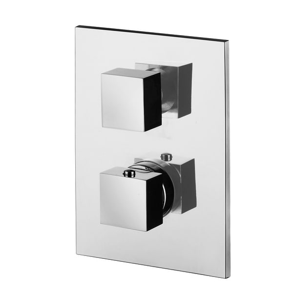 WS Bath Collections Level LEQ 514 Fonte Wall Mounted Single Handle Shower Trim with Diverter - Polished Chrome