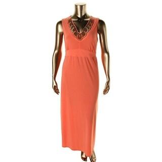 NY Collection Womens Beaded V-Neck Maxi Dress - XL