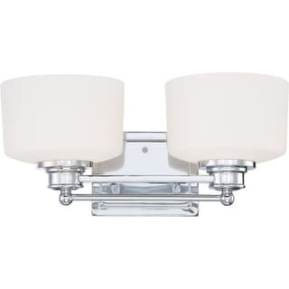 Nuvo Lighting 60/4582 Soho Two Light Bathroom Fixture with Satin White Glass