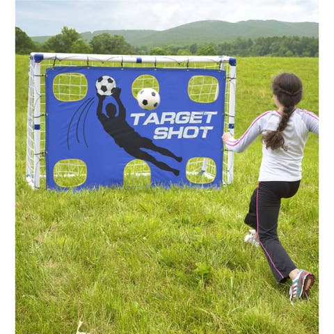 HearthSong Portable 3-in-1 Pro-Style Soccer Trainer Goal Set - One-size