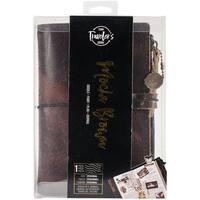 "Mocha Brown - Prima Traveler's Journal Leather Essential 5""X7.25"""