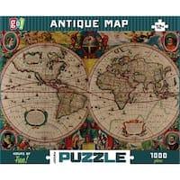 Antique Map 1000 Piece Puzzle, 1,000 Piece Puzzles by Go Games