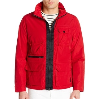 Nautica NEW Red Mens Size Medium M Full-Zip Windbreaker Jacket