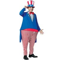 Rasta Imposta Uncle Sam Hoopster Adult Costume - Blue/Red - One size