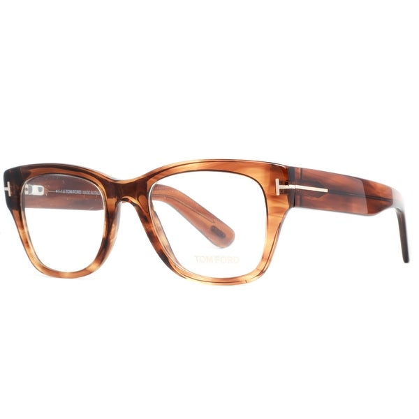 1783464b05e29 Tom Ford TF5379 048 51mm Clear Dark Brown Mens Square Eyeglasses - clear  brown - 51mm