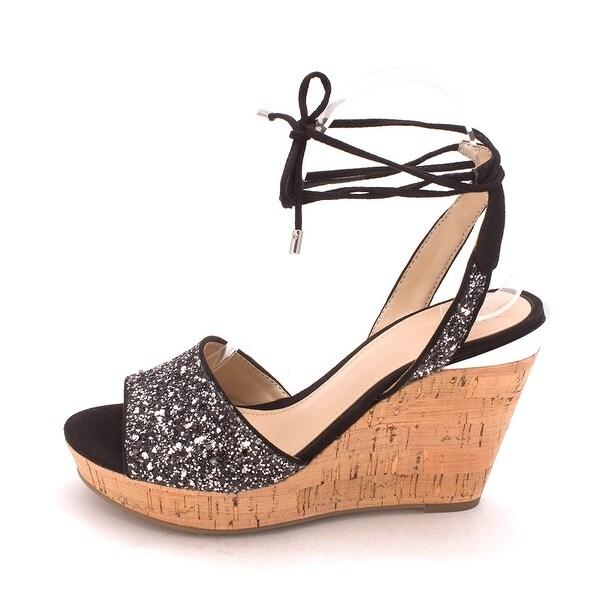 GUESS Womens Edinna2 Open Toe Casual Platform Sandals