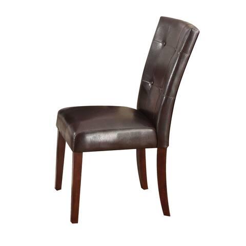 Moda Danville Side Chair (Set-2) in Espresso PU and Walnut