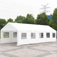 Gymax 13' x 33' Canopy Shelter Car Carport Wedding Party Tent Garage Cover Heavy Duty - as pic