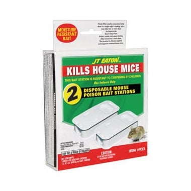 J.T.Eaton 932 House Mice Pre Loaded Bait Stations, 0.5Oz