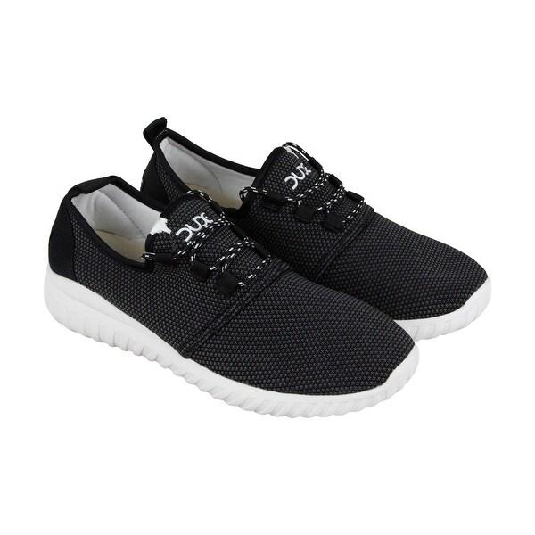 Hey Dude Renova Sox Mens Black Nylon Athletic Lace Up Running Shoes
