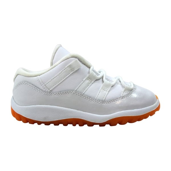 best service a434f a47ea Shop Nike Air Jordan XI 11 Retro Low White/Citrus 645107-139 ...