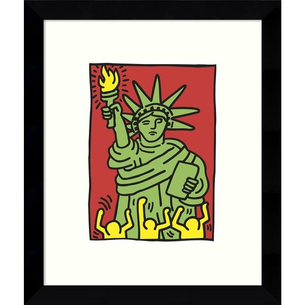 Framed Art Print 'Statue of Liberty, 1986' by Keith Haring 9 x 11-inch. Opens flyout.