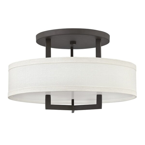 """Hinkley Lighting 3201 3-Light 20"""" Width Semi-Flush Ceiling Fixture from the Hampton Collection"""