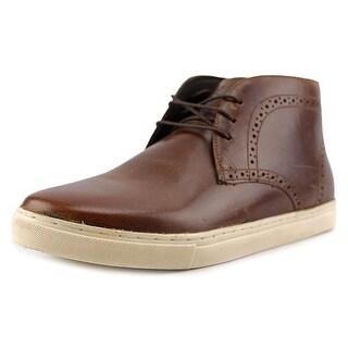 Crevo Marston Men Round Toe Leather Brown Boot