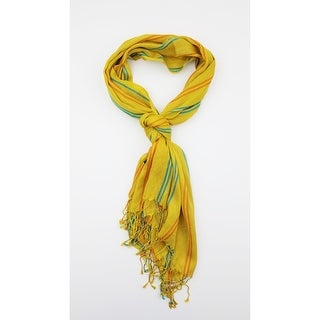 Link to Women Multi Color Lightweight Stripes Oblong Scarf With Tassels Fall Winter School Warm College Fashion Scarves - M Similar Items in Scarves & Wraps