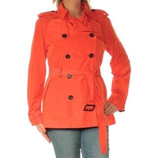 MICHAEL KORS $225 Womens New 1672 Orange Peacoat Casual Jacket L B+B