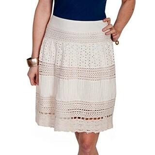 Scully Western Skirt Womens Honey Creek Knee-Length Ivory