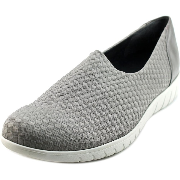 Munro American Cruise Women N/S Round Toe Canvas Gray Loafer