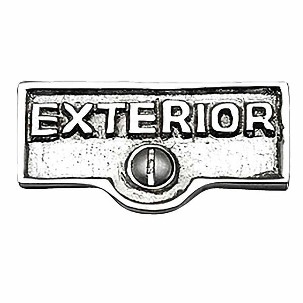 Switch Plate Tags EXTERIOR Name Signs Labels Chrome Brass | Renovator's Supply