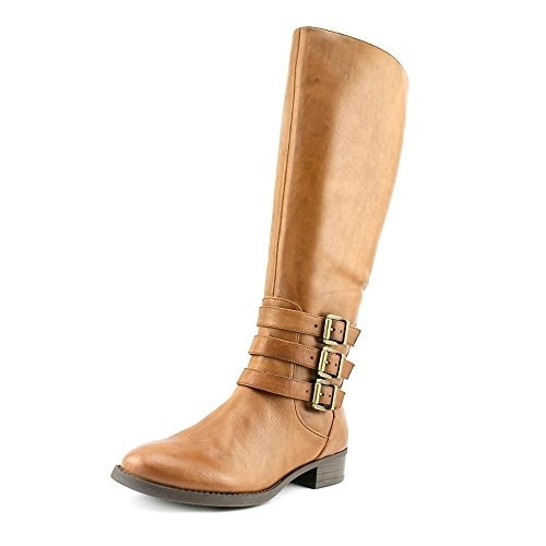 INC International Concepts Womens Francy (Wide Calf) Leather Almond Toe Knee ...