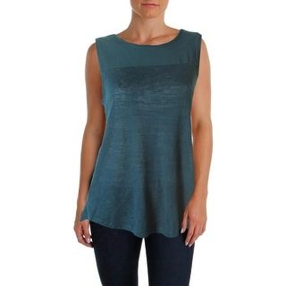 Sanctuary Womens Sleeveless Solid Pullover Top