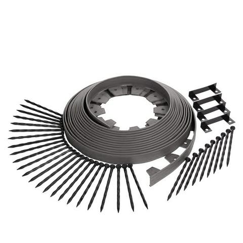 Easy Flex No Dig Landscape Edging with Bonus Spikes for Lawn and Garden 50 Foot