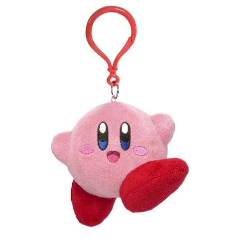 Kirby Nintendo 3.5 Inch Dangler Plush - Jumping Kirby - Multi