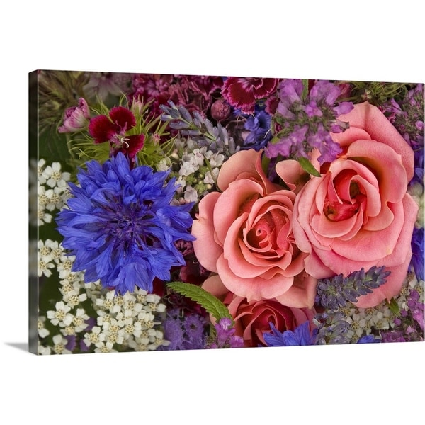 """""""Flowers for sale at the Farmers Market"""" Canvas Wall Art"""