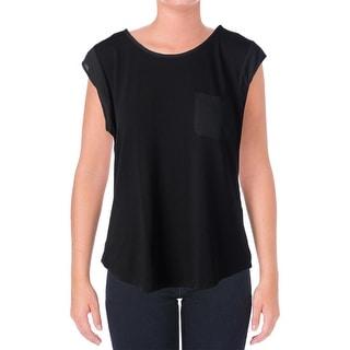 Calvin Klein Womens Jersey Hi-Low Casual Top