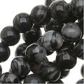 Matrix/Picasso Black Jasper Round Beads 4mm / 15.5 Inch Strand - Thumbnail 0